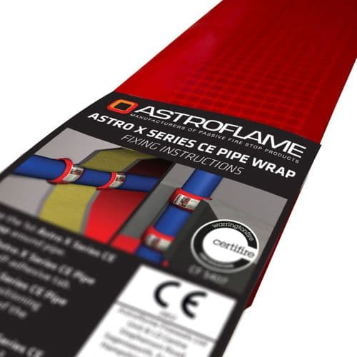 Intumescent Pipe Wraps Fire Rated CE Marked 32mm - 63mm